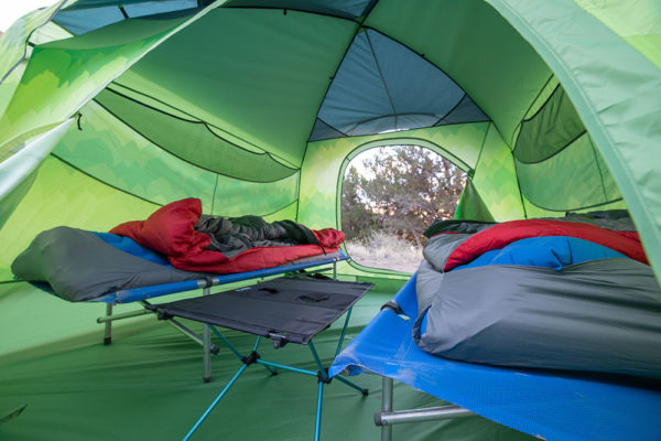 Tent Set-up at the Gunnison Gorge